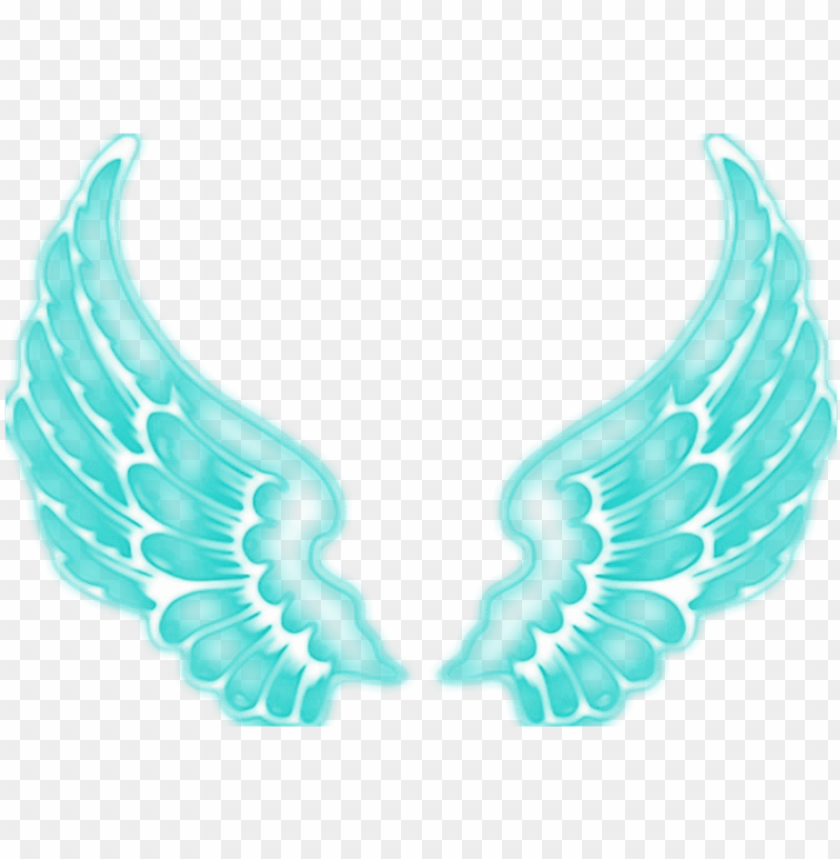 free PNG #angel #angels #wing #wings #fairy #ftestickers #blue - neon angel wings PNG image with transparent background PNG images transparent