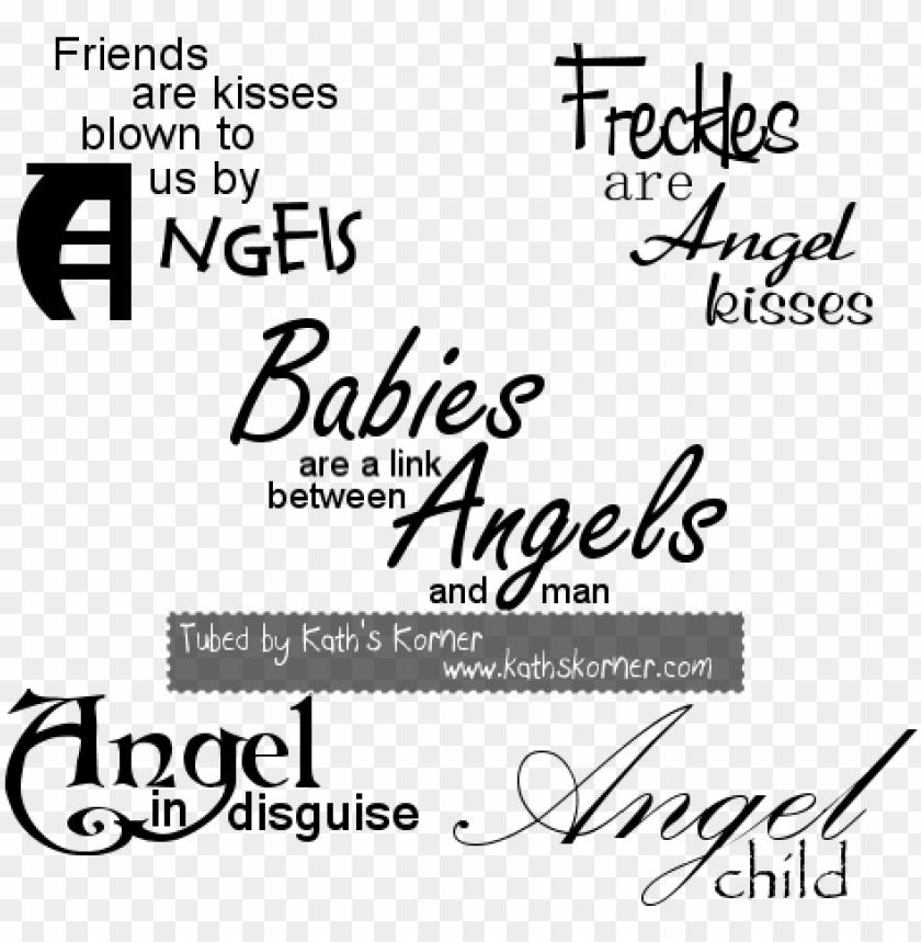 free PNG angel transparent word art - word art angels PNG image with transparent background PNG images transparent