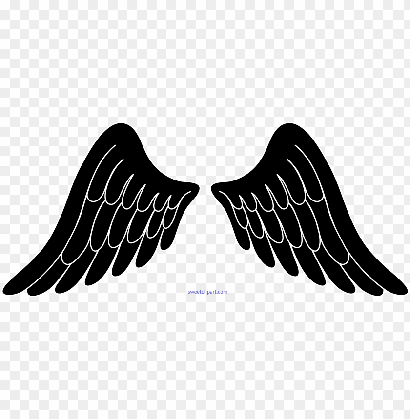 free PNG angel wings black and white - angel wings clipart black and white PNG image with transparent background PNG images transparent