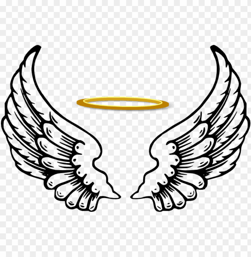 free PNG angel wings with halo - angel halo wing PNG image with transparent background PNG images transparent