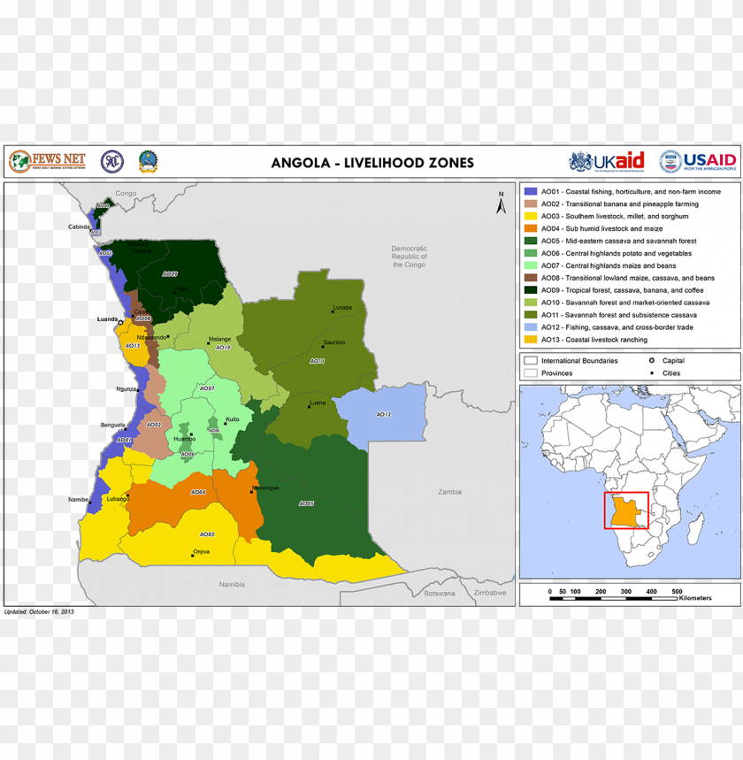 free PNG angola 2013 livelihood zones map - atlas PNG image with transparent background PNG images transparent