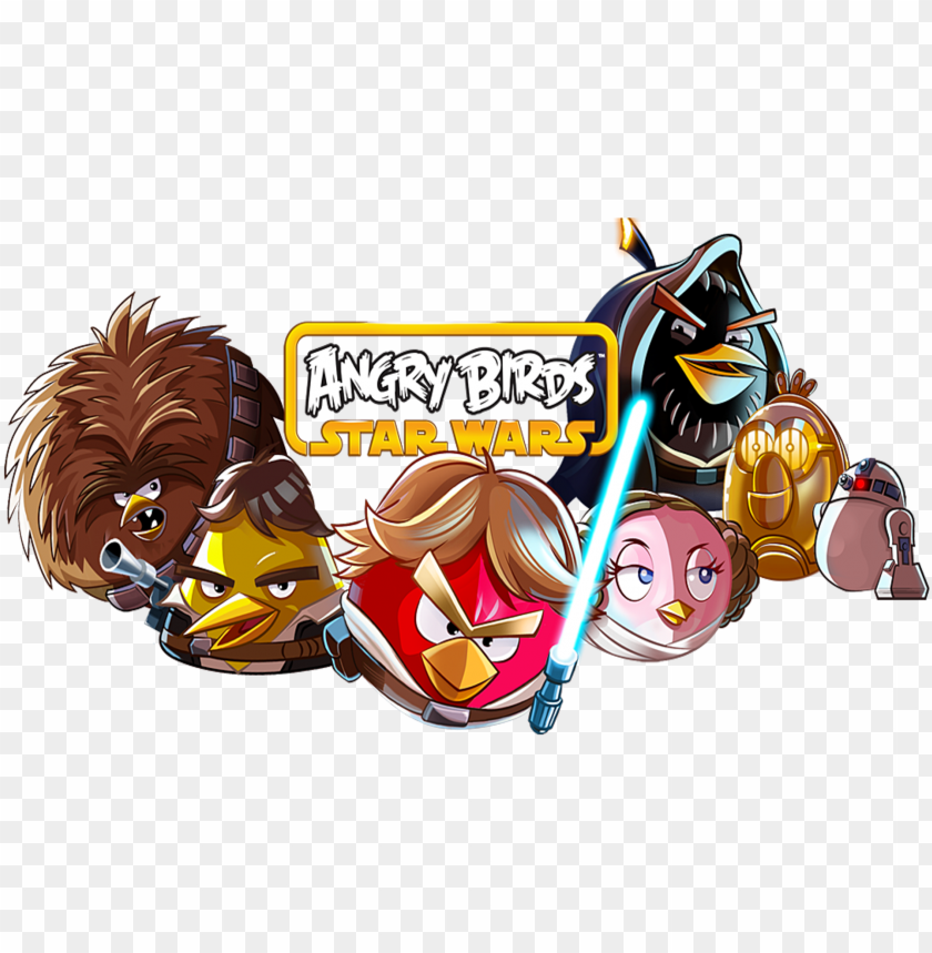 free PNG angry birds star wars wallpaper - angry birds stars wars PNG image with transparent background PNG images transparent