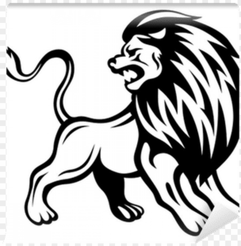 free PNG angry lion wall mural • pixers® • we live to change - angry lion lion vector PNG image with transparent background PNG images transparent