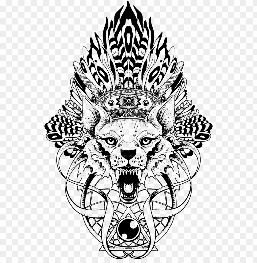 free PNG angry wolf by quidames-d6bxdir - wolf totem pole tattoo PNG image with transparent background PNG images transparent