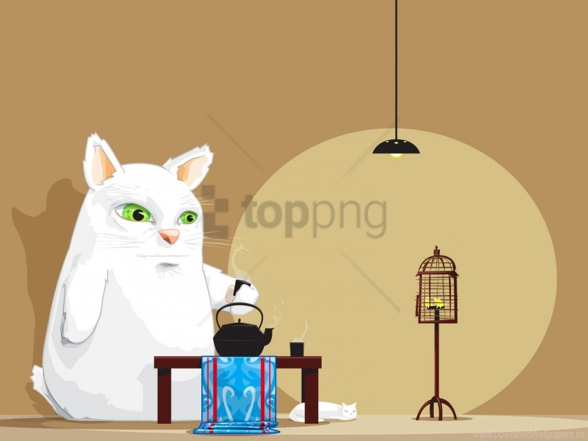 free PNG animal, atmosphere, room, tea, tea party wallpaper background best stock photos PNG images transparent