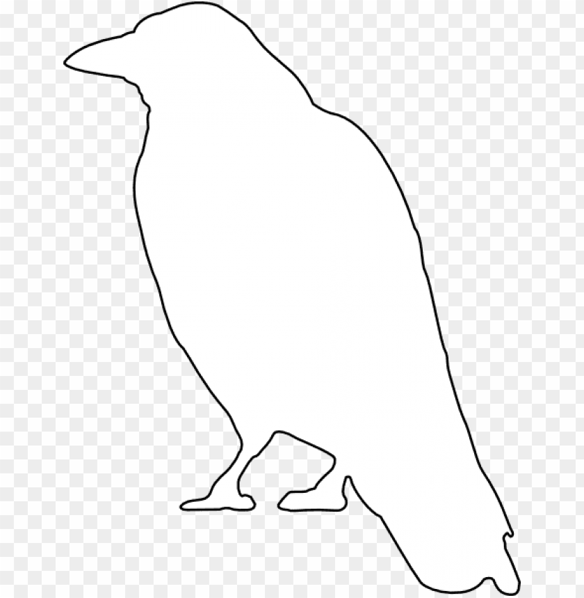 free PNG animals outline silhouette cartoon birds bird crow - white crow vector PNG image with transparent background PNG images transparent