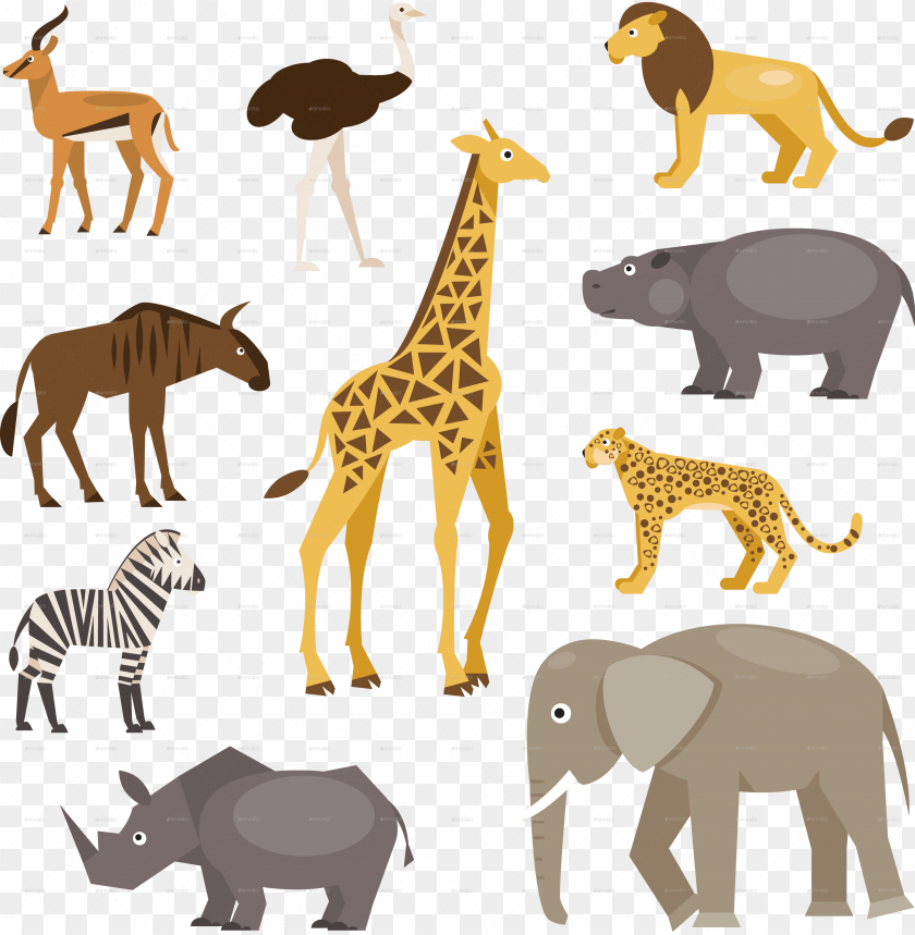 free PNG animals savannah animals savannah - african savanna animals PNG image with transparent background PNG images transparent