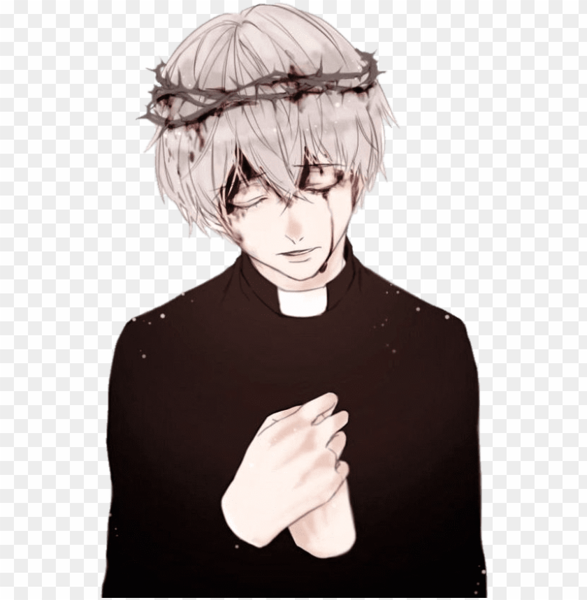 free PNG #аниме #anime #арт #art #токийский Гуль #токийский - anime boy broken heart PNG image with transparent background PNG images transparent
