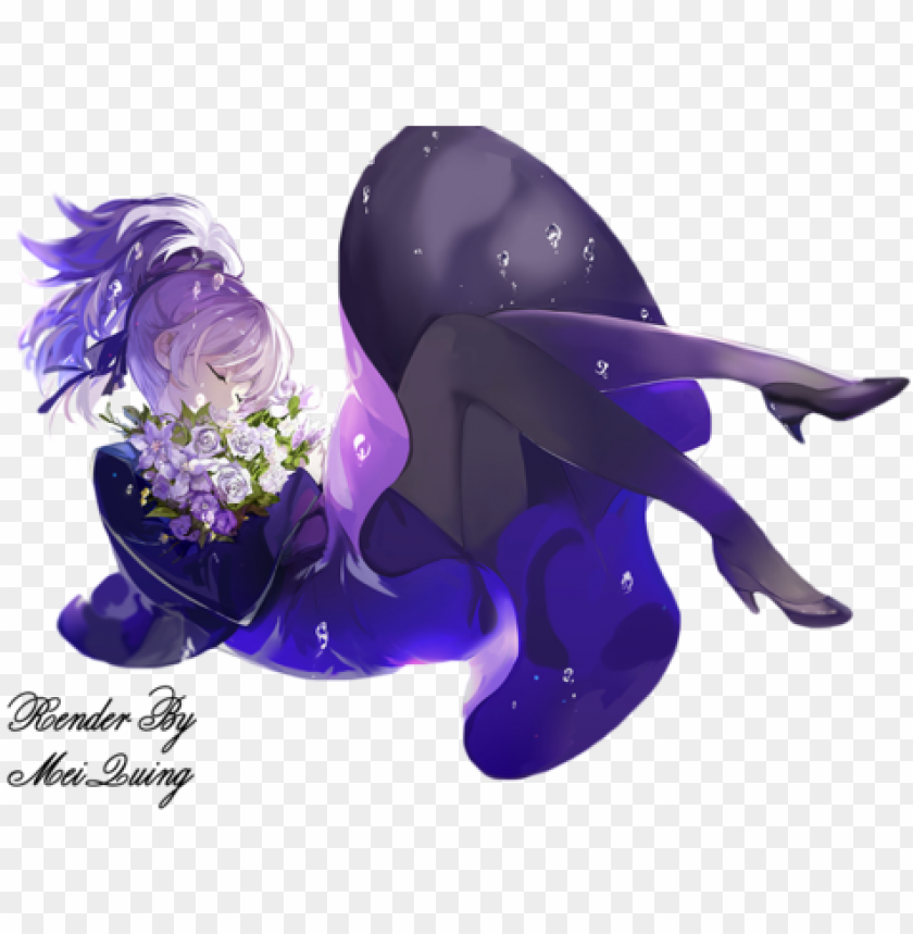 free PNG anime, anime girl, and flowers image - anime girl with cool hair render PNG image with transparent background PNG images transparent