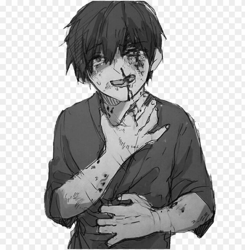 free PNG anime animeboy sad pain edgy gore scary idk emo - anime poor little boy PNG image with transparent background PNG images transparent