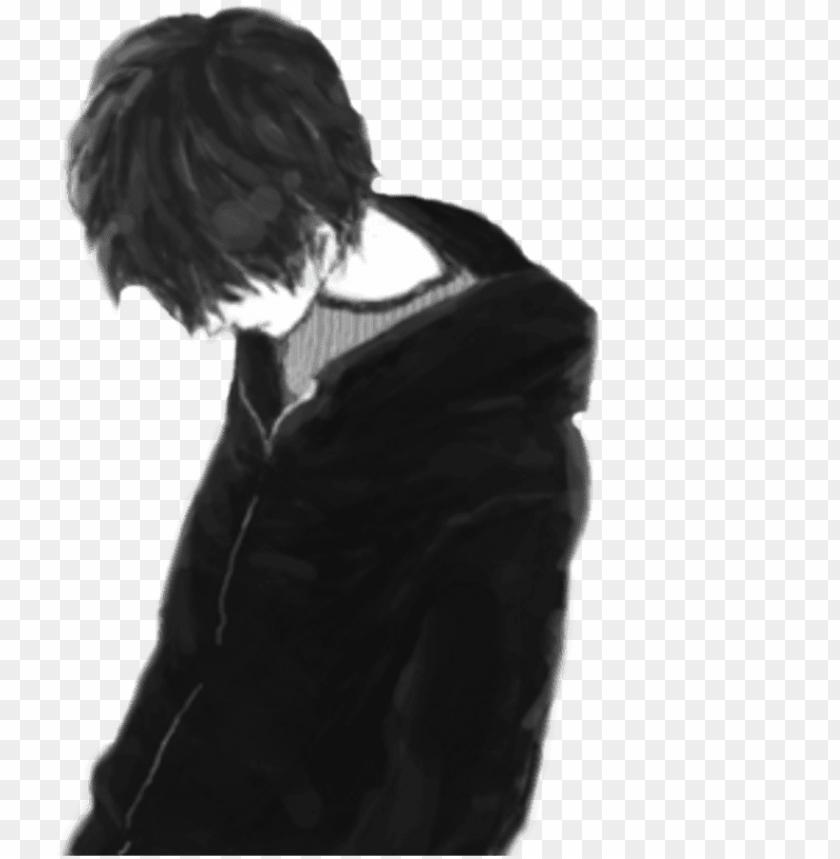 free PNG anime boy sad png image transparent download - sad boy alone PNG image with transparent background PNG images transparent