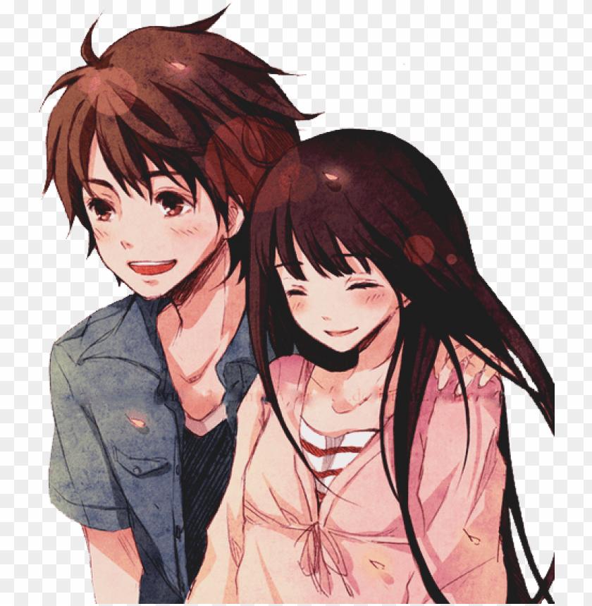 Image of anime couple