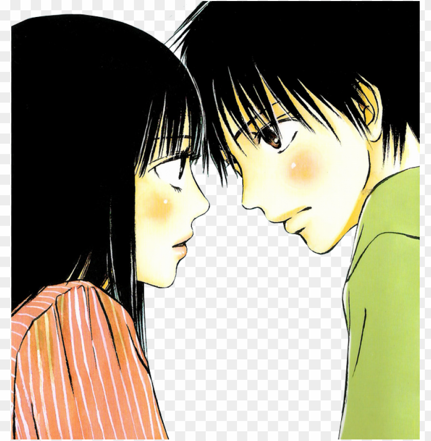 free PNG anime couples images ♥sawako x kazehaya→'love'♥ wallpaper - kimi ni todoke PNG image with transparent background PNG images transparent