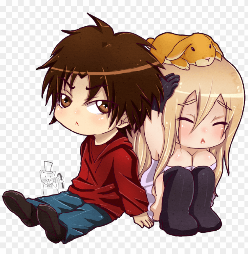 free PNG anime girl and boy hugging pictures and cliparts download - chibi girl and boy PNG image with transparent background PNG images transparent