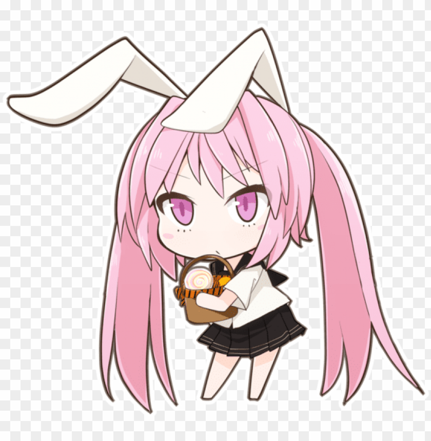 Anime Girl Bunny Chibi Png Image With Transparent Background Toppng