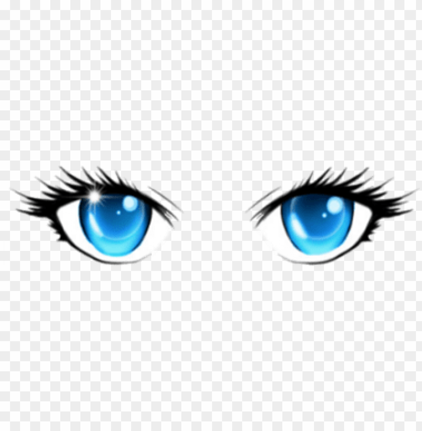 free PNG anime girl eyes png - anime face blue eyes PNG image with transparent background PNG images transparent