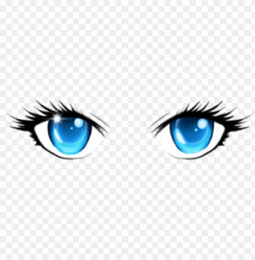 Blue eyes girl anime
