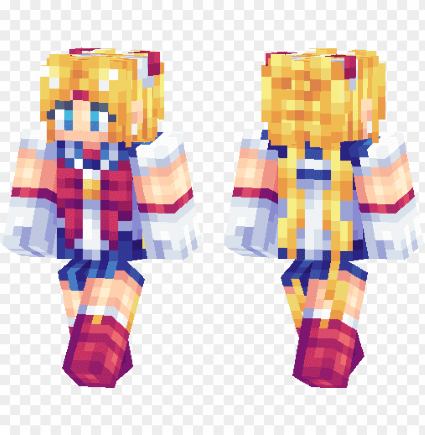 free PNG anime girl mcpe ski PNG image with transparent background PNG images transparent