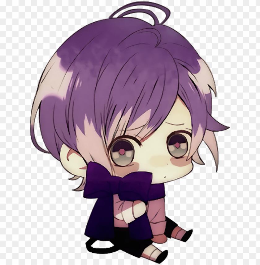 Anime Manga Chibi Vampire Boy Guy Cute Kawaii Diabolik Lovers Kanato Chibi Png Image With Transparent Background Toppng