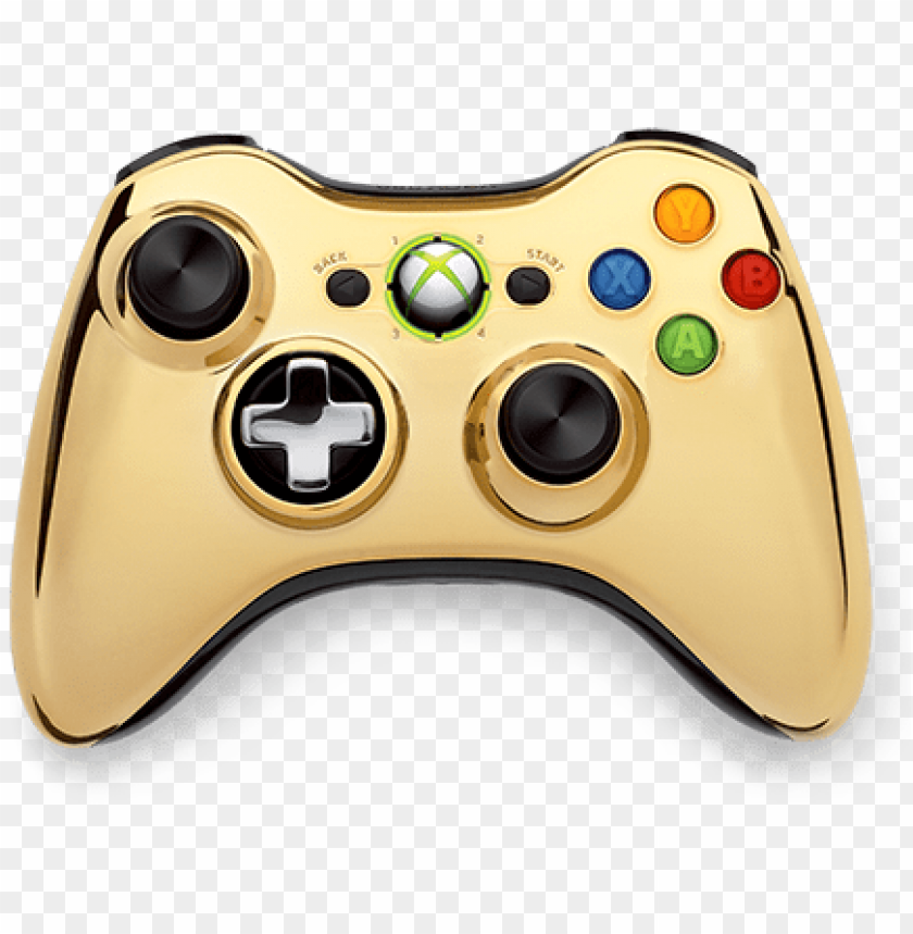 free PNG announcing the xbox 360 special edition chrome series - gold chrome xbox 360 controller PNG image with transparent background PNG images transparent