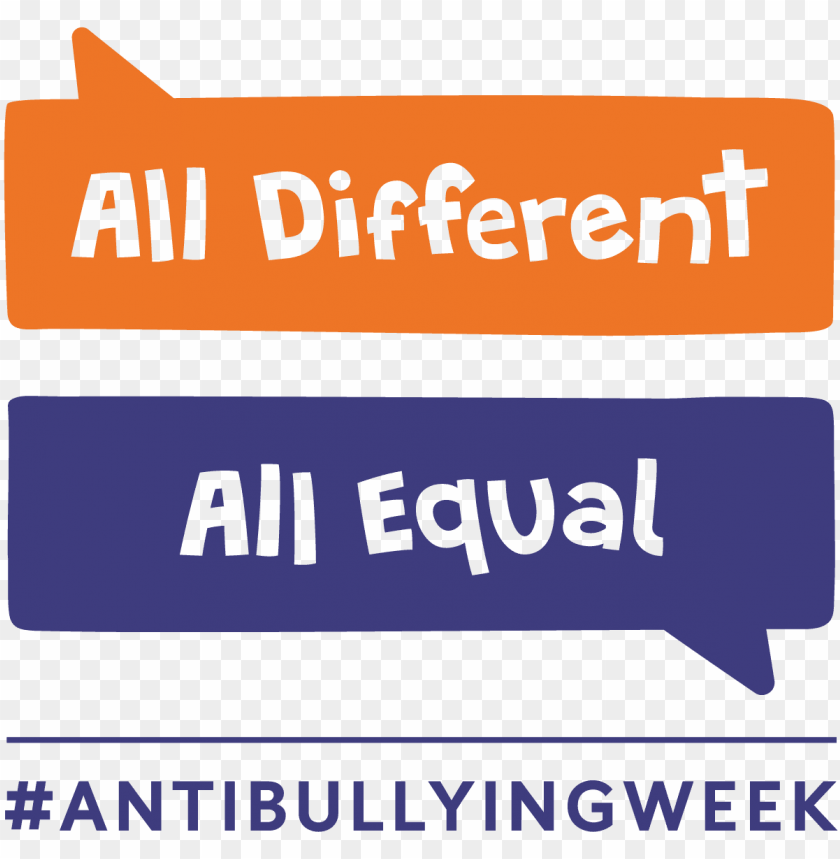 free PNG anti bullying week 2017 all different all equal PNG image with transparent background PNG images transparent