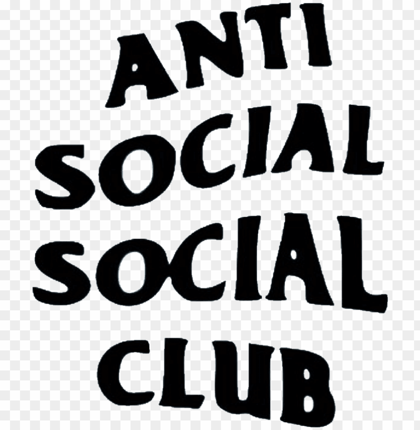 free PNG anti social antisocialsocialclub club sticker remixit - anti social social club logo PNG image with transparent background PNG images transparent