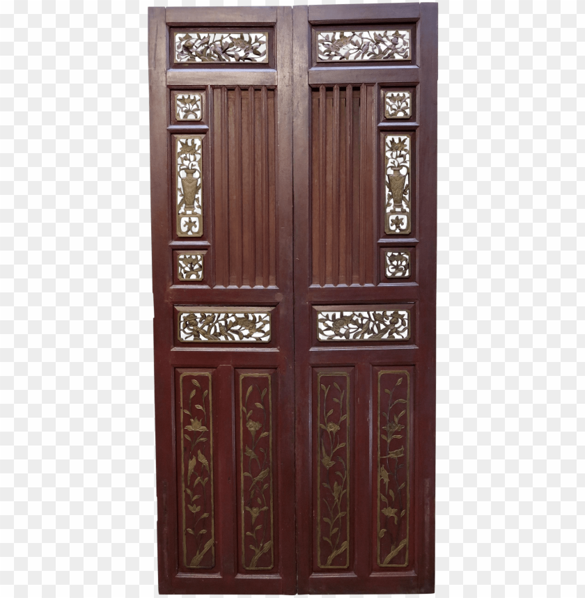 free PNG antique chinese hand carved wooden doors - chinese wooden doors PNG image with transparent background PNG images transparent