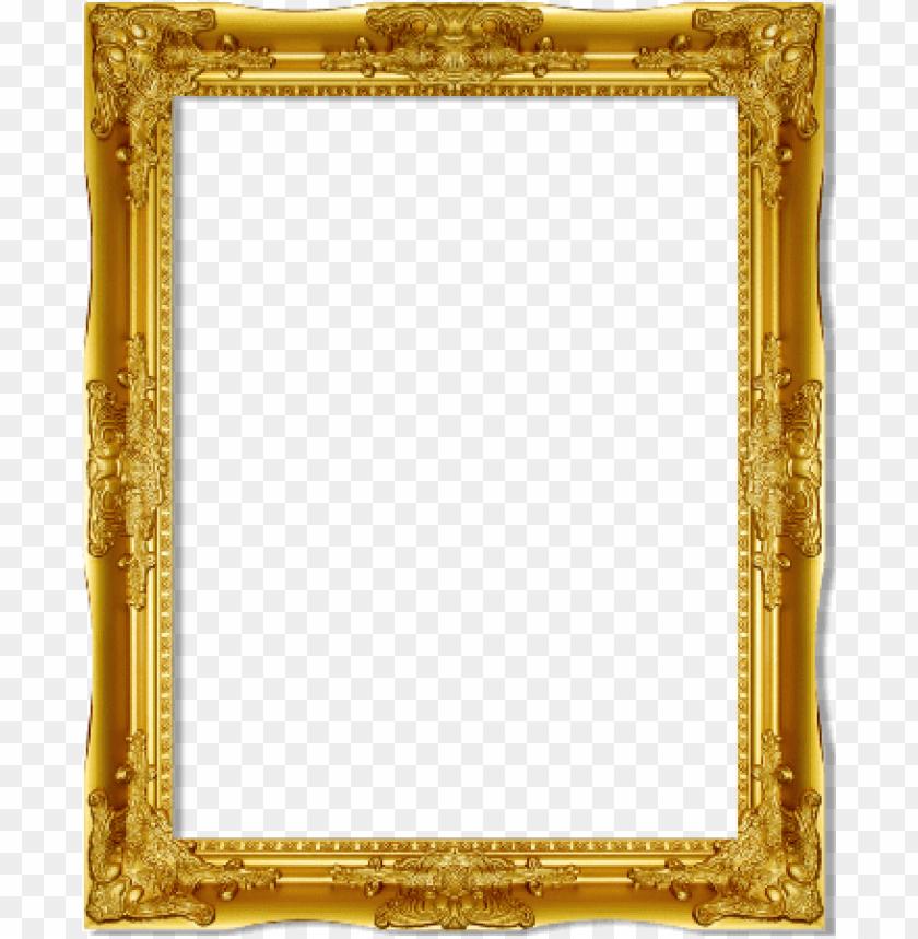 free PNG antique gold frame png vintage vintage - victorian picture frame PNG image with transparent background PNG images transparent