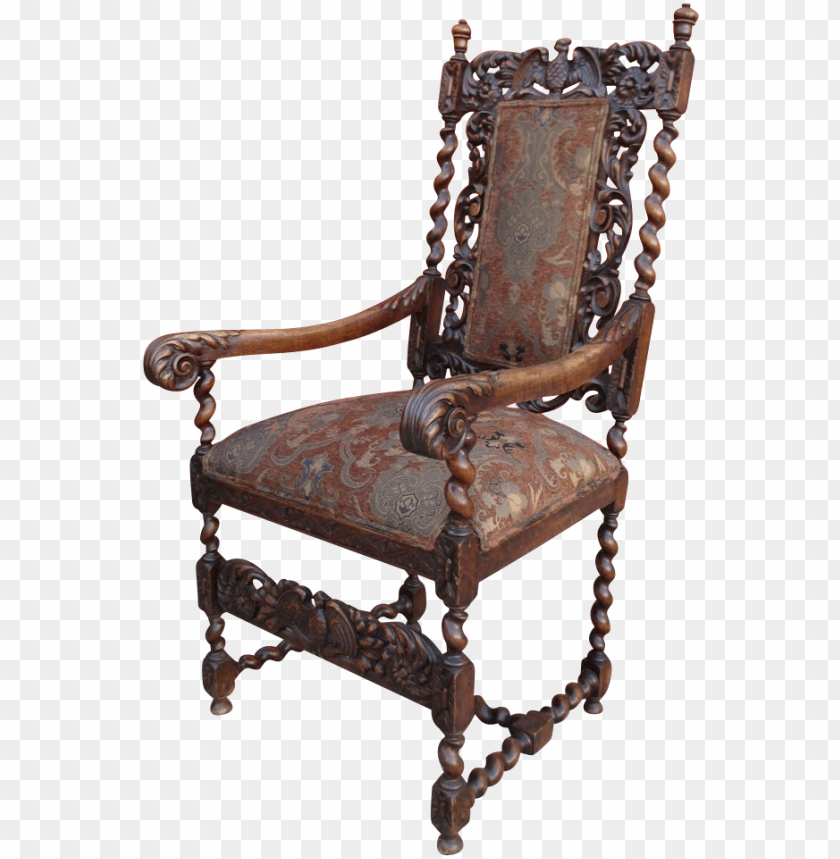 free PNG antique high back barley twist chair - antique chair high back PNG image with transparent background PNG images transparent