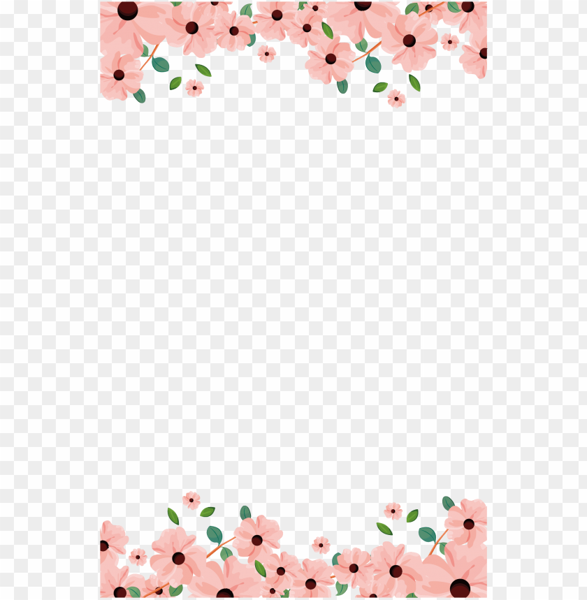 free PNG aper invitation flower painting hand painted handpainted - painted flower borders PNG image with transparent background PNG images transparent