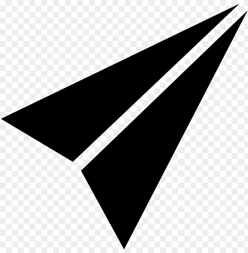free PNG aper plane black folded shape of triangular arrow - black paper plane PNG image with transparent background PNG images transparent