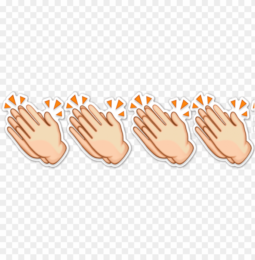 free PNG applause emoji tshirt clapping hands emotn cheers PNG image with transparent background PNG images transparent