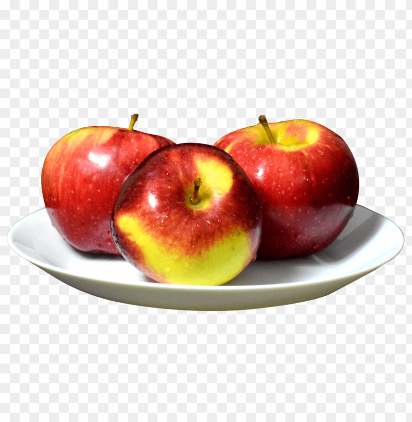 free PNG Apples on the White Plate png - Free PNG Images PNG images transparent