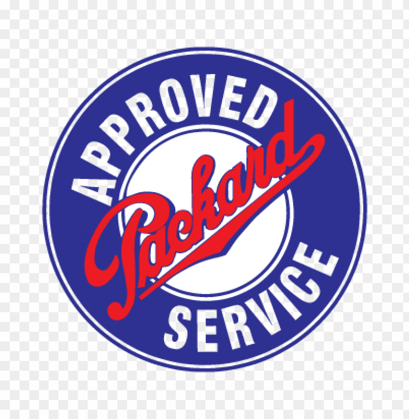 free PNG approved packard service logo vector PNG images transparent