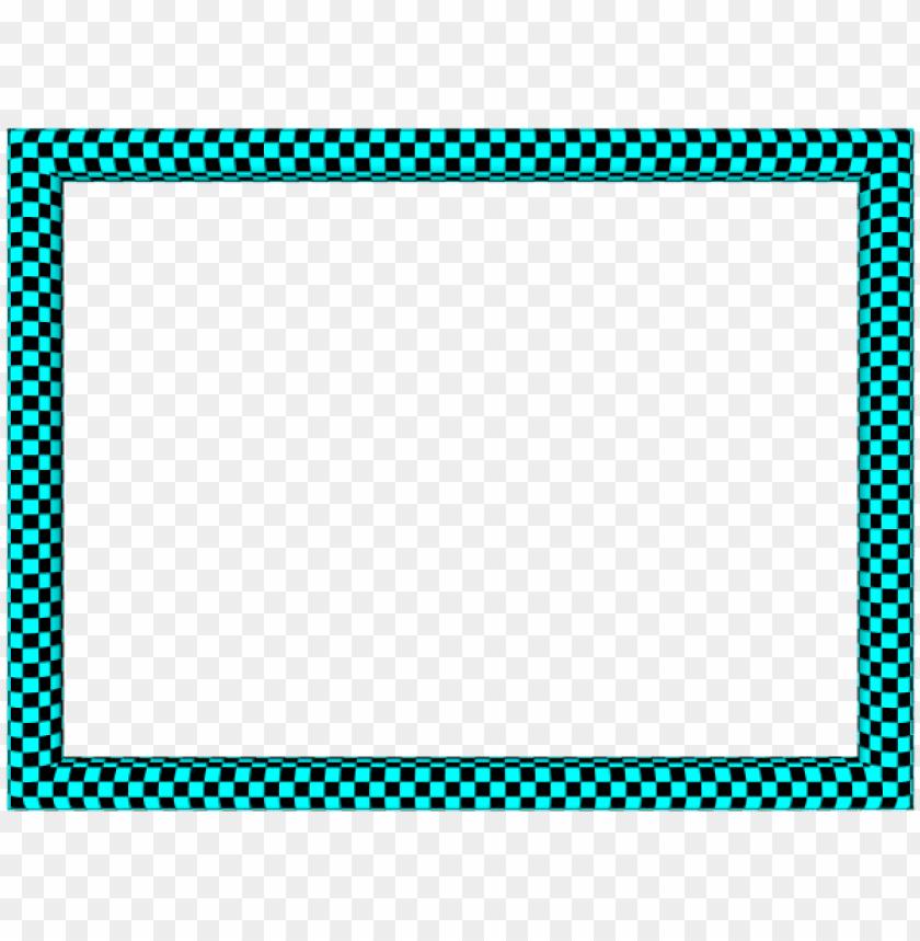 free PNG aqua black funky checker rectangular powerpoint border - black green border desi PNG image with transparent background PNG images transparent