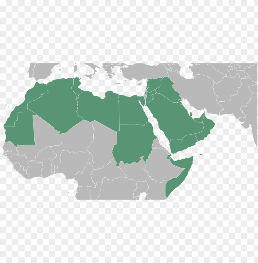 free PNG arab world - blank map of arab world PNG image with transparent background PNG images transparent