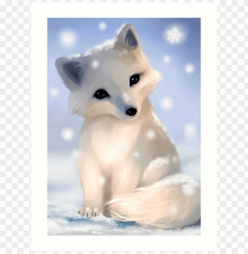 free PNG Download arctic fox png cute s clipart png photo   PNG images transparent