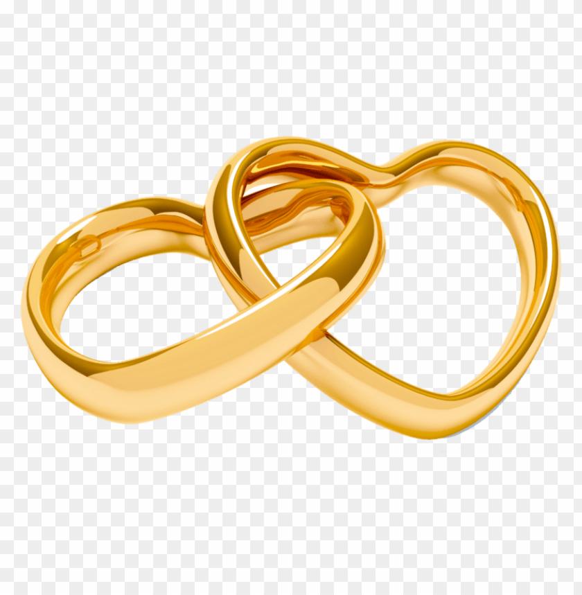 argollas de matrimonio en oro PNG image with transparent
