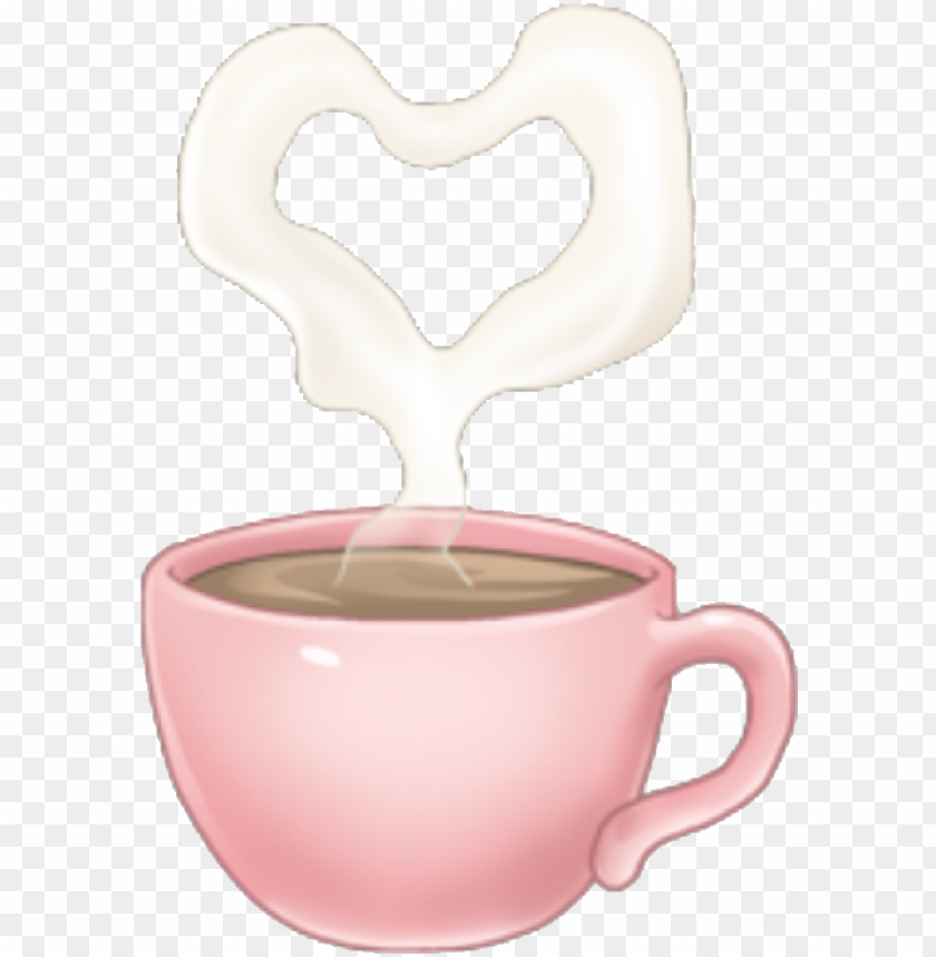 free PNG arimoji coffee heart pink cute tumblr drink sticker - coffee cu PNG image with transparent background PNG images transparent