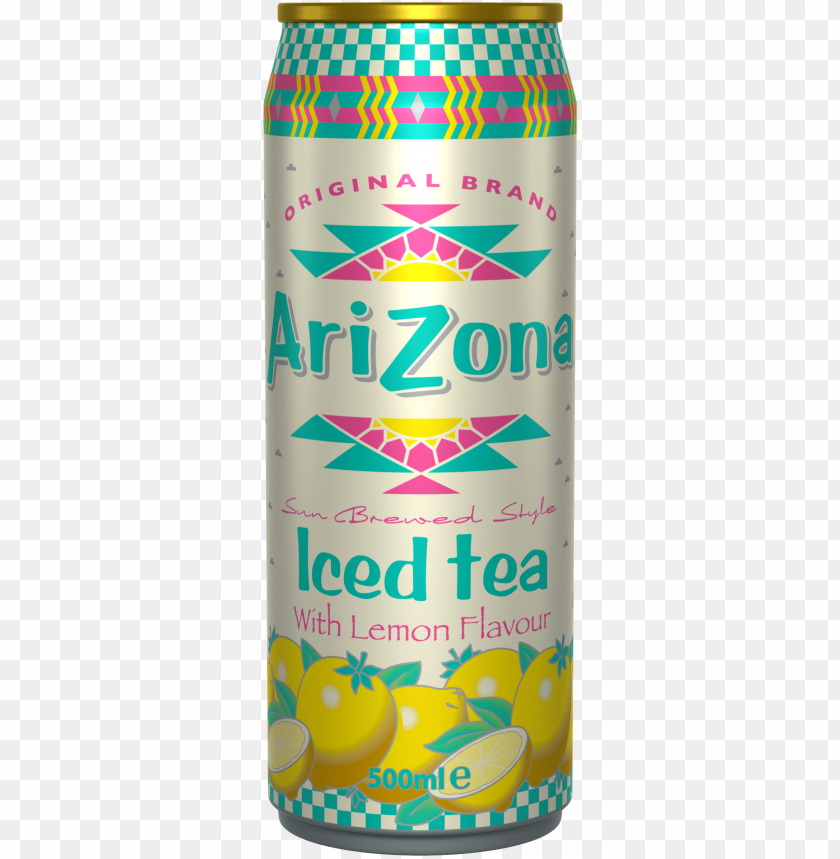 free PNG arizona iced tea with lemon flavour cans 12 x 0,5 liter - arizona tea PNG image with transparent background PNG images transparent
