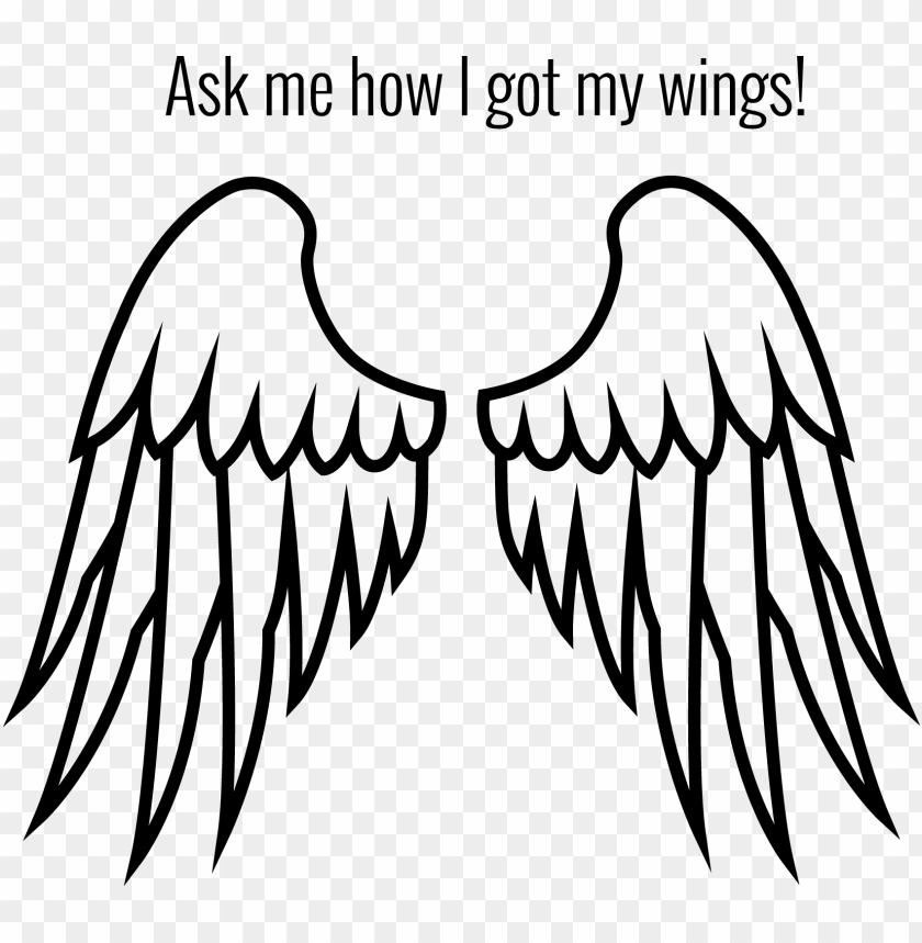 free PNG ark angel wings - cartoon angel wing PNG image with transparent background PNG images transparent