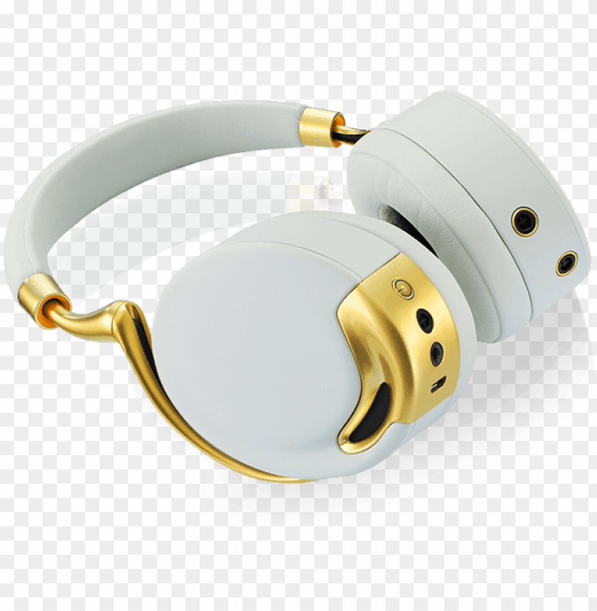 free PNG arrot zik headphones yellow gold - parrot zik wireless noise cancelling headphones yellow PNG image with transparent background PNG images transparent