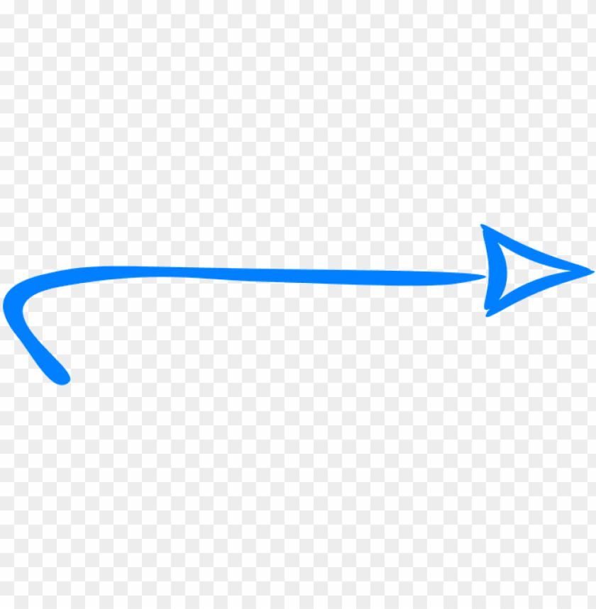 free PNG arrow right blue handdrawn pointing direct - hand drawn arrow blue PNG image with transparent background PNG images transparent