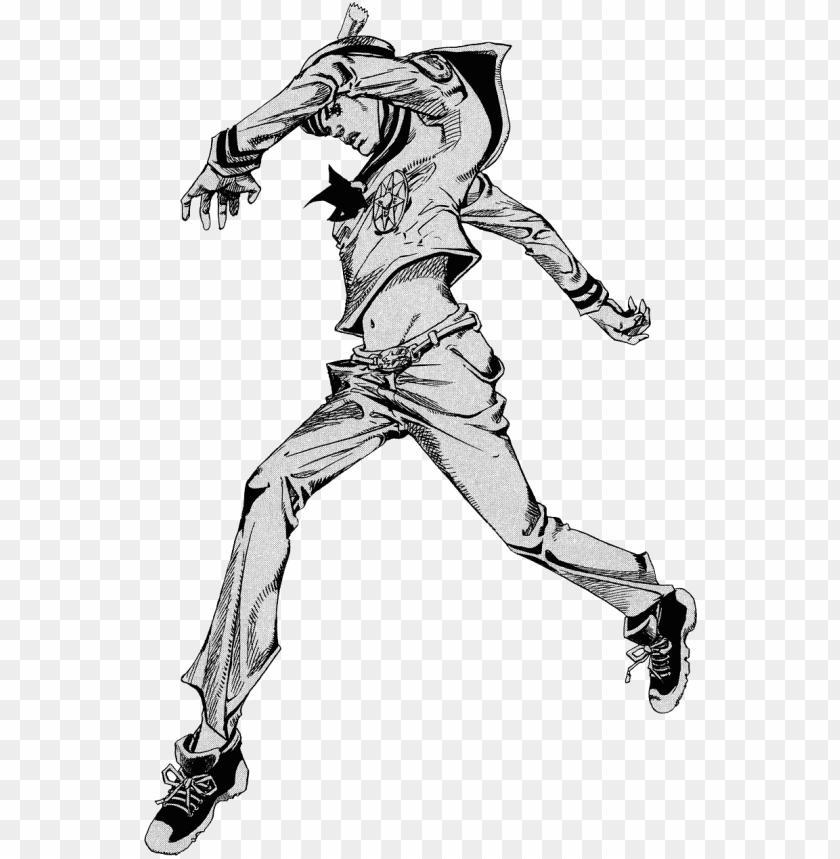 free PNG art 1 , - josuke higashikata 8 walk PNG image with transparent background PNG images transparent