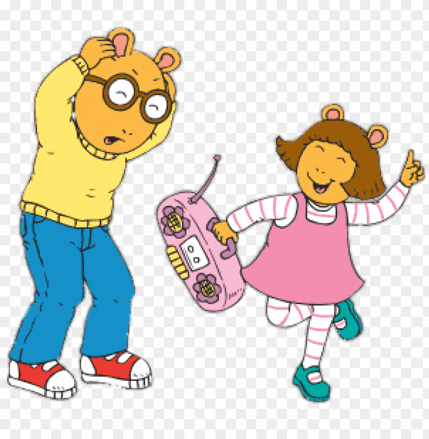 download arthur s sister plays annoying music on radio clipart png photo toppng toppng