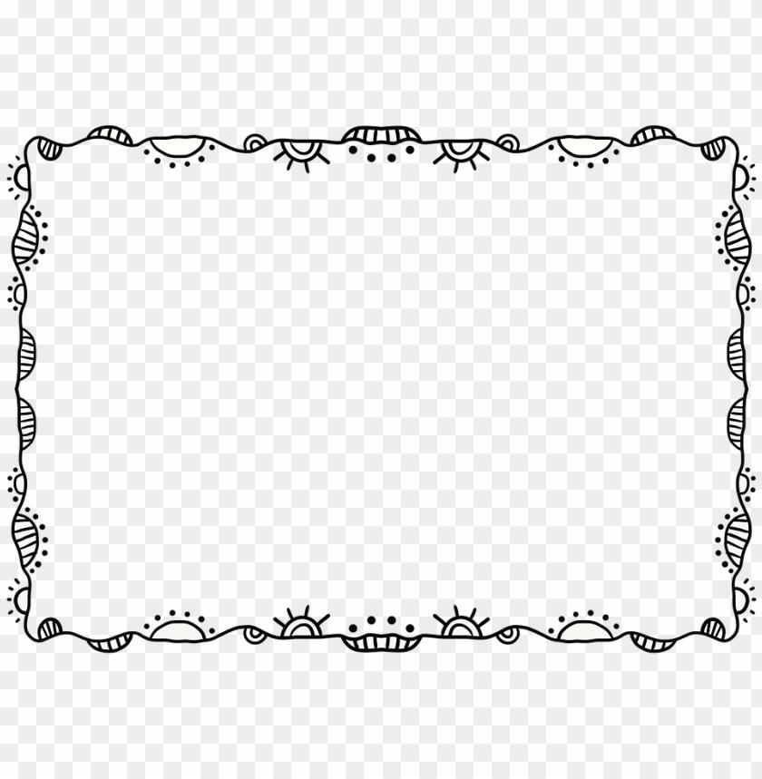 free PNG artistic frame png - transparent background doodle borders PNG image with transparent background PNG images transparent