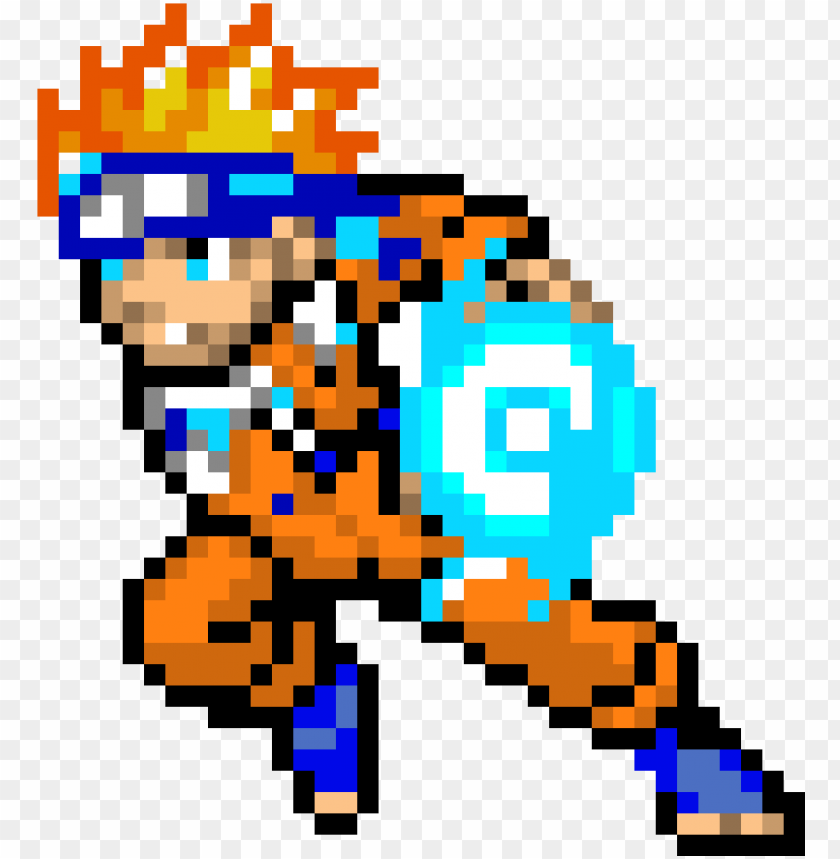 Aruto Using Rasengan Easy Minecraft Pixel Art Naruto Png Image With Transparent Background Toppng