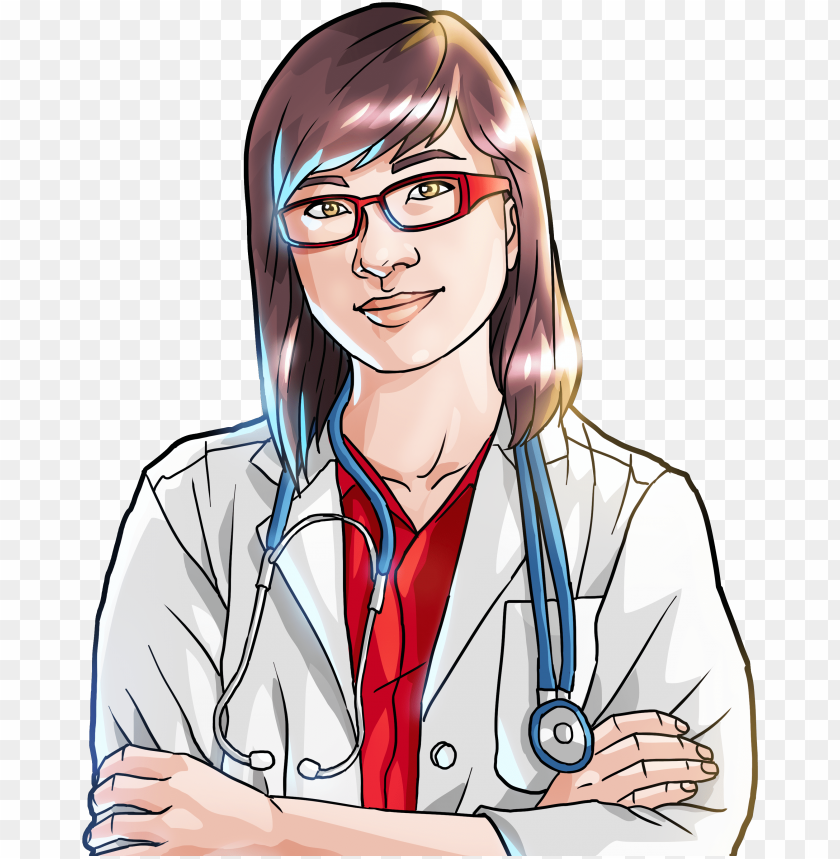 free PNG asian female doctor - asian female doctor cartoo PNG image with transparent background PNG images transparent