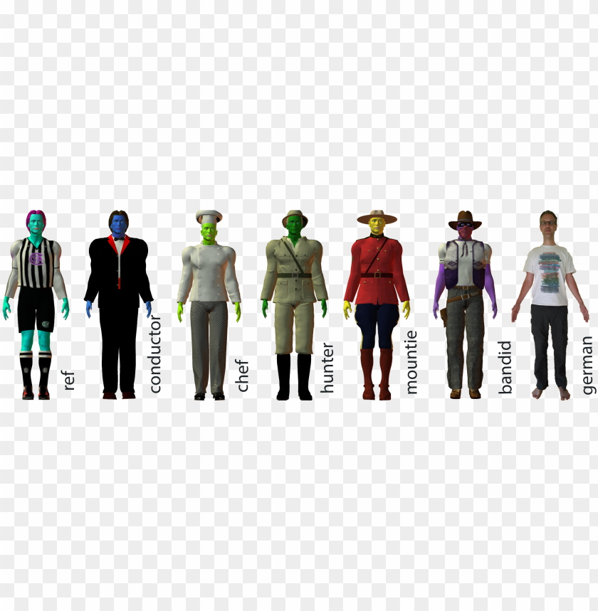 free PNG assorted characters from masha's artificial languages - military uniform PNG image with transparent background PNG images transparent
