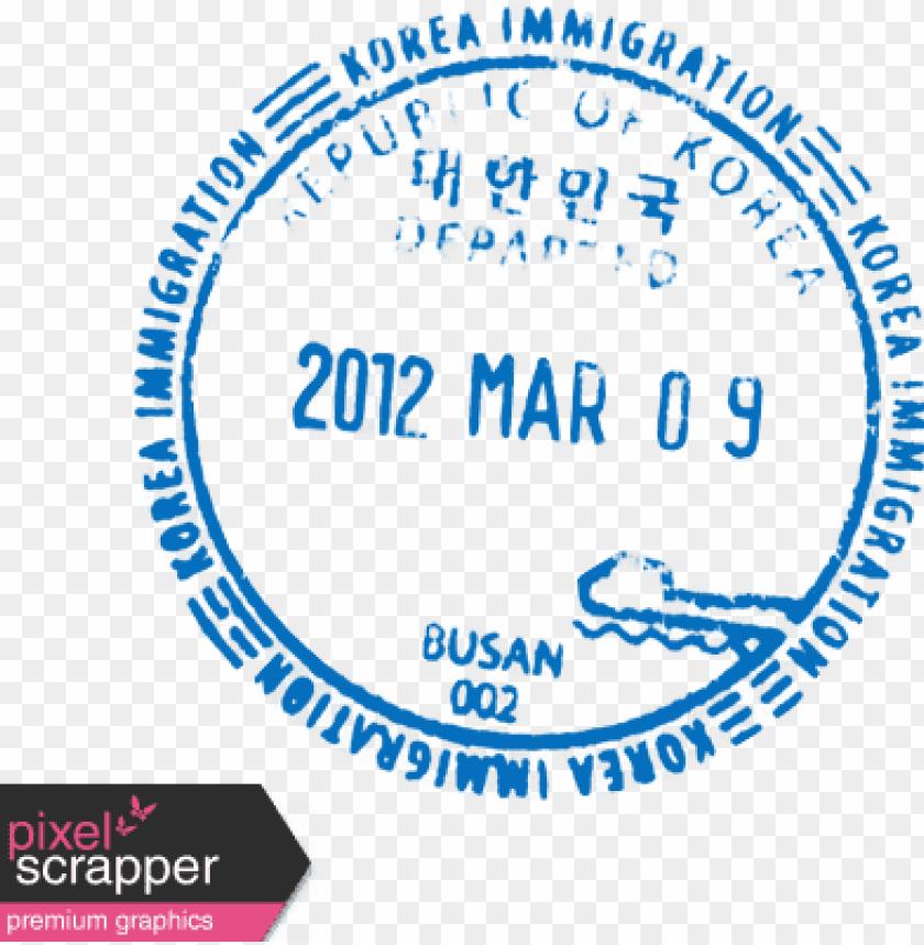 free PNG assport stamp png - korea passport stamp PNG image with transparent background PNG images transparent